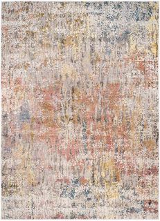 abstract area rug with multicolour design