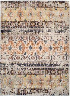 aztec style area rug in multicolour