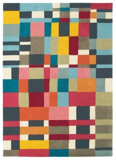 brink and campman wool rug with a multicolour geometric pattern