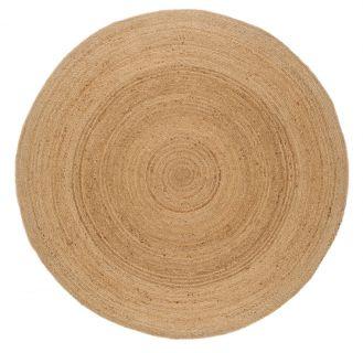 woven beige circle rug