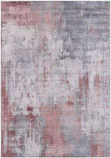 abstract area rug in red