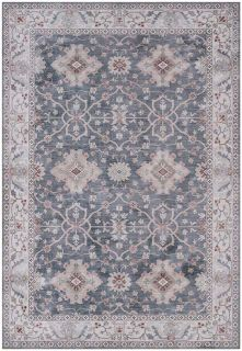 traditional style area rug with Persian inspired design in dark blue