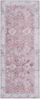 persian style runner in pink