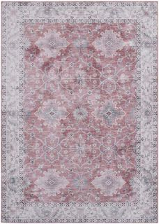 traditional style area rug with Persian inspired design in pink