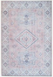traditional style area rug with Persian inspired design in blush