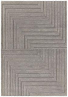 Form Grey Wool Rug