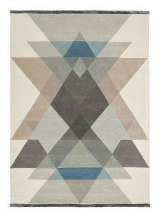 multicolour abstract geometric rug