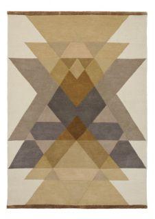 yellow abstract geometric rug