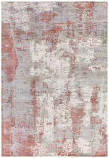 red and grey abstract rug