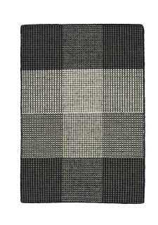 black geometric rug