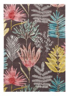 Harlequin rug with a multicolour floral pattern