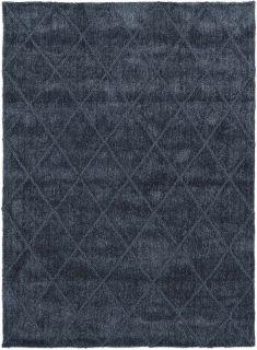 navy blue area rug with subtle diamond design