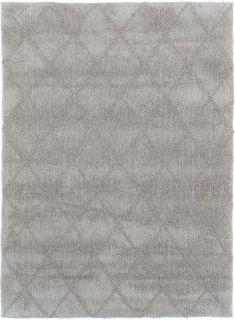 grey area rug with subtle diamond design