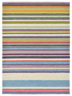 multicolour striped indoor/outdoor rug
