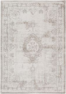 Grey rug with faded persian design