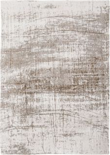 Ivory flatweave with faded grey abstract design