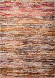 Terracotta, red and brown abstract stripe rug