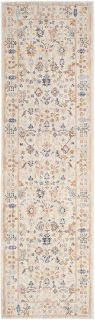 traditional style runner in beige, rust and blue