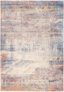 abstract style area rug in multicolour