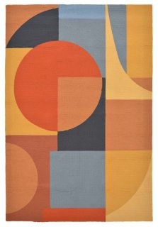 geometric artist inspired indoor/outdoor rug in multicolour