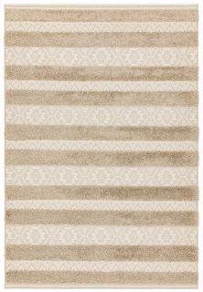 beige indoor/outdoor rug with stripe design