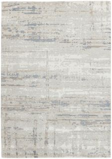Area rug with  abstract design in grey and beige
