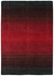 Large grey and red ombre rug