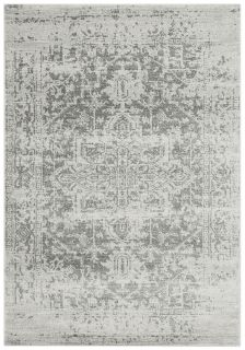 grey rug with an oriental design