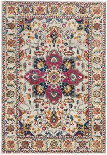 multicolour rug with an oriental design