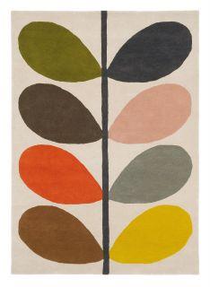 Orla Kiely giant multi stem rug - cream rug with a multicolour leaf pattern