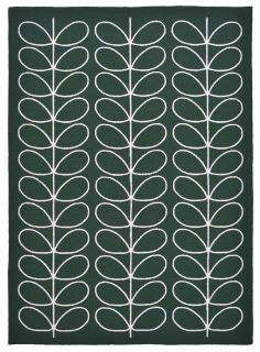green indoor/outdoor rug with allover floral print