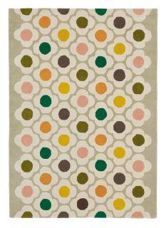 orla kiely spot flower rug - multicolour flower print rug
