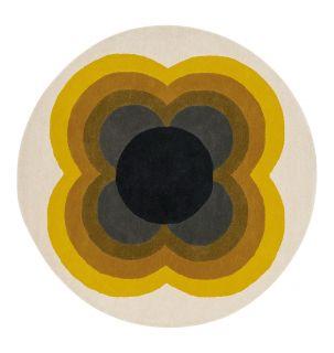 orla kiely sunflower yellow circle rug