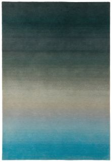 ombre blue and black rug