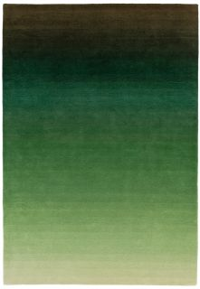 ombre green and black rug
