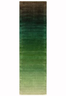 ombre green and black runner