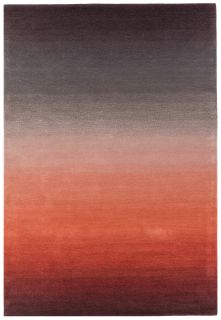 ombre red and black rug