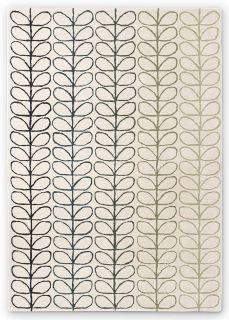 cream rug with ombre stem design