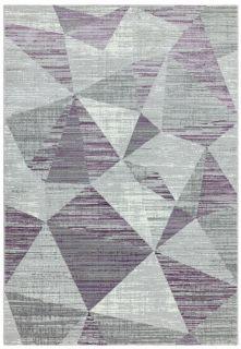 purple geomteric rug