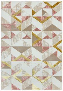 geometric pink rug