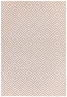 pink and white geometric rug for indoors and outdoors