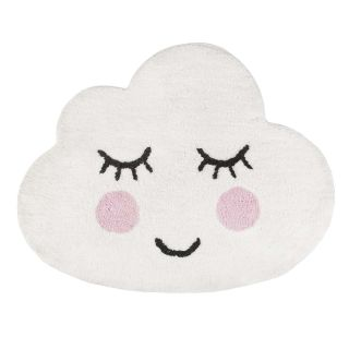 small cloud shaped kids rug