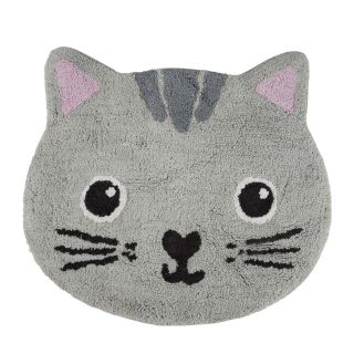 small cat shaped kids rug