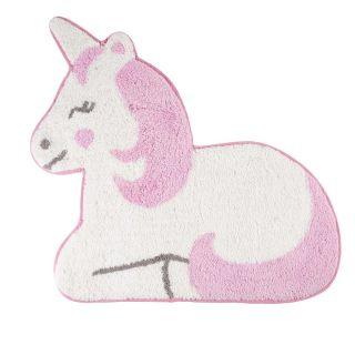 small unicorn shaped kids rug