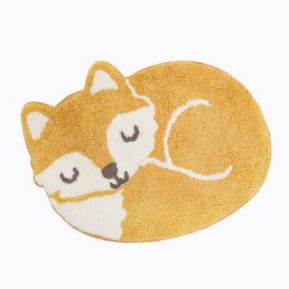 small fox shaped kids rug