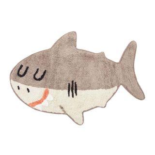 small shark shaped kids rug