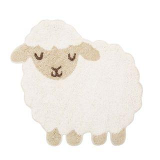 small lamb shaped kids rug