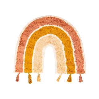 small rainbow shaped kids rug