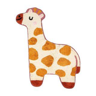 small giraffe shaped kids rug