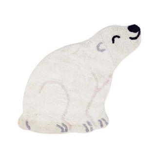 small polar bear shaped kids rug